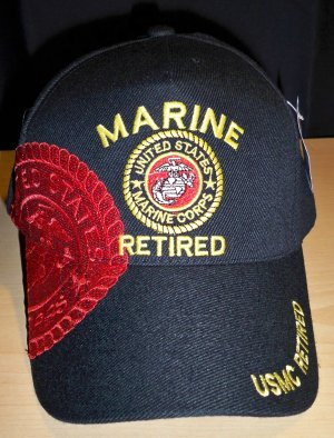 MARINE RETIRED #4 W/SHADOW CAP - BLACK