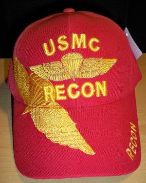 MARINE RECON CAP W/SHADOW - RED