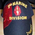 2ND MARINE DIVISION CAP W/SHADOW - BLACK