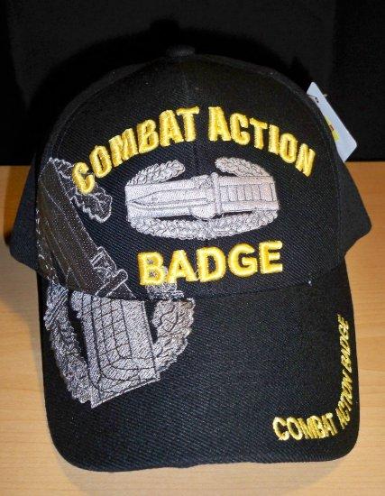 ARMY COMBAT ACTION BADGE CAP - BLACK