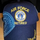 AIR FORCE RETIRED CAP W/SHADOW - NAVY