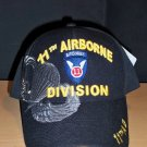 11th AIRBORNE DIVISION W/GREY SHADOW EMBROIDERY - BLACK