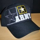 ARMY TEXT W/STAR SHADOW CAP #1