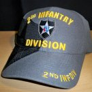 2ND INFANTRY DIVISION SHADOW HAT - GRAY