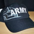 ARMY TEXT CAP W/TANK SHADOW EMBROIDERY