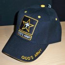 GOD'S ARMY CHRISTIAN CAP - BLACK