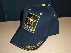 GOD'S ARMY CHRISTIAN CAP - BLACK