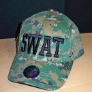SWAT CAP - CAMO W/RAISED BLACK LETTERING