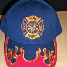 FIRE FIGHTER CAP - NAVY W/RED FLAMES