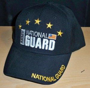 ARMY NATIONAL GUARD CAP - BLACK W/STARS