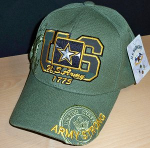 US ARMY STRONG '1775' CAP - GREEN W/SHADOW