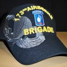 173RD AIRBORNE BRIGADE W/GREY SHADOW EMBROIDERY - BLACK