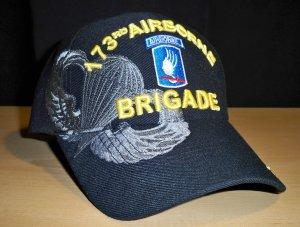 173RD AIRBORNE BRIGADE W/GREY SHADOW EMBROIDERY - BLACK