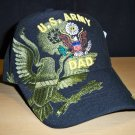 ARMY DAD SHADOW HAT - BLACK