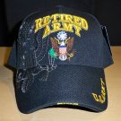 ARMY RETIRED SHADOW HAT #2 - BLACK