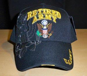 ARMY RETIRED SHADOW HAT #2 - BLACK