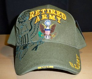 ARMY RETIRED SHADOW HAT #2 - OLIVE GREEN
