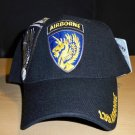 13TH AIRBORNE DIVISION W/GREY SHADOW EMBROIDERY - BLACK