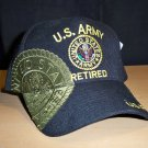 ARMY RETIRED SHADOW HAT #3 - BLACK