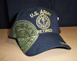 ARMY RETIRED SHADOW HAT #3 - BLACK