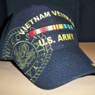 ARMY VIETNAM VETERAN SHADOW CAP W/RIBBON - BLACK