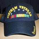 VIETNAM VETERAN W/RIBBON SUMMER MESHBACK CAP
