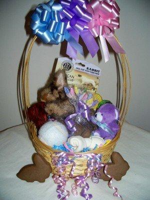 Somebunny Loves Me Easter Gift Basket for Dogs