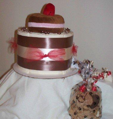 Strawberry Cream Filled PupCake Training Pad Puppy Shower Gift