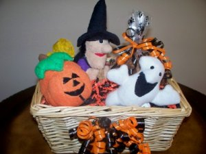 Scaredy Dog Halloween Gift Basket for Dog