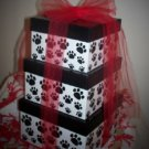 A Beary Special Puppy Gift Tower Red, White & Black