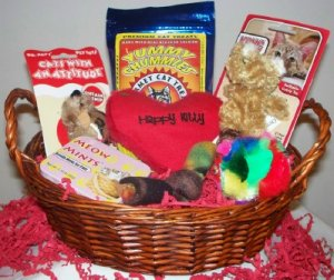 Love That Kitty Gift Basket for Cats and Kittens