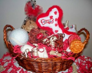 Hearts & Bones Gift Basket for Dogs & Puppies