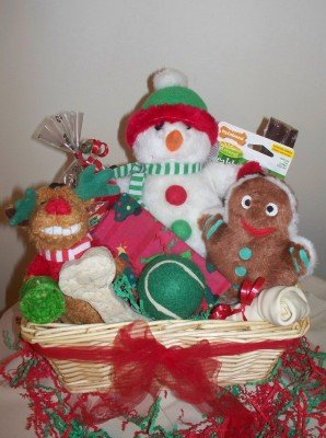 Frosty Times Deluxe Gift Basket for Dogs