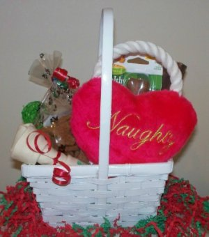 Nothing But Naughty Gift Basket for Dog