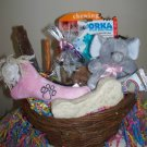 New Puppy Bouncing Baby Girl Gift Basket for Dogs