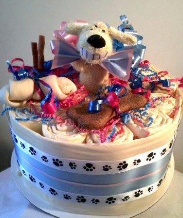 Bowtie Bowwow Single Layer Cake
