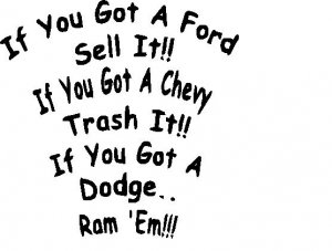 If you got a ford
