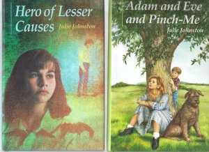 Hero of Lesser Causes & Adam and Eve and Pinch-Me (Young Adults Hardcover Book Lot)