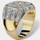 Men's Fashion Brand Luxury Ring with Square Inlay of Zirconium