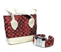 designer inspired bangle watches with matching purse