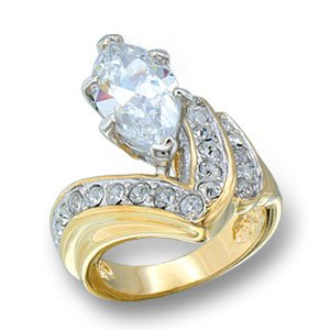 2 CT CLEAR CZ RING SZ 10