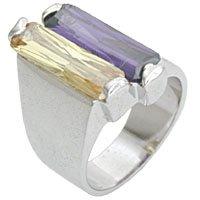 2 Carat Multicolor CZ Ring