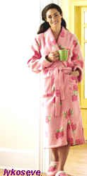 roses are red and this robe will fit you 2 with slipper