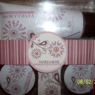 VANILLA ROSE 3PC BATH SET BY ASQUITH@SOMERSET NEW FRE SHIP W/BUY IT NOW