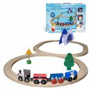 FROSTY THE SNOWMAN OR RUDOLPH WOODEN TRAIN SET NEW 24 PC TOO CUTE NOT 2 HAVE NW