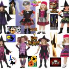 pirates/witches/skelatons/girl costumes new too cute from toddlers to preteen nw
