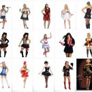 WOMANS  costumes for all sizes  must see SMALL TO X LARGE +alot of  PLUS SIZES