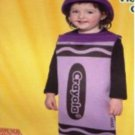 NW Crayola Crayon Childs CostumeS RED,PURPLE,BLUE FRE SHIPING W/BUY IT NOW PRICE