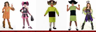 NW girls costumes gothic chearleader@ power puff @groovy kid @more@ goth angelel