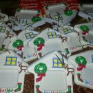 ChristmaS TREE Ornaments 3PC House Picture Frame BY DeCOPAC NEW
